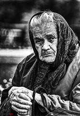 Portrait of a Homeless Woman in Belgrade (german_long) Tags: candid people homeless belgrade serbia bw bn
