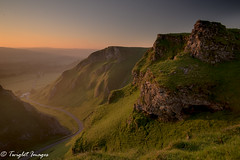 Winnats Pass Sunrise (marklinton94) Tags: 2035f28 tokina filters cpl grad 2stopreversegrad clear blue derbyshire nikond600 nikon winnats pass peak peaks peakdistrict hill hillside sunrise spring mist misty valley road sky landscape rock rocky grass grazing light sun