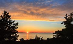 Sunny horizon (Antti Tassberg) Tags: landscape pilvi kesä luonto silhouette taivas skrubbö auringonlasku aurinko cloud kirkkonummi nature skrobban sky storamickelskären sun sundown sunset uusimaa finland fi