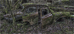 Required camouflage dress! (Yamabxl) Tags: stolencars abandoned abbandonato creepy cars voiture decay derelict dereliction forgotten forbidden ghost rust hdr highdynamicrange hidden lostplaces prohibed prohibé urbex urbanexploration urbexhdr verfall verlassen verlaten
