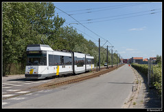 DL 6012 - Lombardsijde Bad (Spoorpunt.nl) Tags: 10 juni 2017 bn wagen de lijn tram 6012 lombardsijde bad