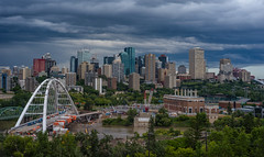 Edmonton Skyline (Kurayba) Tags: edmonton alberta canada ca downtown pentax full frame ff mode skyline laurence decore lookout walterdale bridges construction stantec tower north saskatchewan river valley k1 smcpda70mmf24 storm clouds stormy da 70 f24 limited