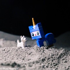 IMG_6102 (Hue Hughes) Tags: lego space spacemission moon moonlanding lunar astronaut unikitty benny superman alien mech spaceman rover lunarrover craters moondust toys macro fun cute apollo