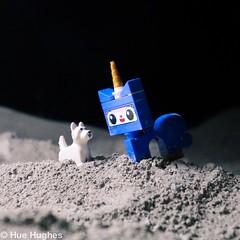 IMG_6102 (Hue Hughes) Tags: lego space spacemission moon moonlanding lunar astronaut unikitty benny superman alien mech spaceman rover lunarrover craters moondust toys macro fun cute apollo