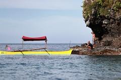 BS0I7185 (jeridaking) Tags: islet couple boat sea tibo abuyog leyte yellow sky horizon travel island canon 1dx markii 70200 28 lens ralph matres jeridaking fortheloveofphotography philippines pilipinas visayas