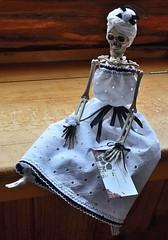Lady Brunilda Doll FOR SALE (RebelGrl) Tags: spooky macabre dayofthedead doll handmade calaca mexico santamuerte