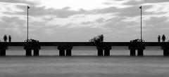 Ghost, People (Cesar Belio) Tags: bridge puente mexico longexposure black white blancoynegro sea clouds