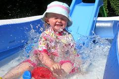 Pool Party (Jon Pinder) Tags: canon powershot s100 paddlingpool pool water splash splashing children fun slide
