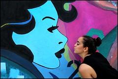 FKDL (Chrixcel) Tags: fkdl franckduval tag graff graffiti streetart peinture mural painting paris portrait baiser kiss woman