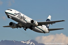 Alaska Airlines / Boeing 737-4Q8 COMBI / N765AS departure from Ted Stevens Anchorage International Airport, Alaska. (Angel Moreno Photography) Tags: alaskaairlines boeing7374q8combi n765as departure tedstevensanchorageinternationalairport alaska anchorage airplane aircraft planespotter plane boeing combi