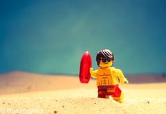 IMG_5153 (Hue Hughes) Tags: lego toys sand beach sun fun summer aladin genie banana c3po motorcycle dirtbike dunes hulk batman shark robin r2d2 lifeguard policeman macro sunrise