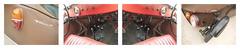 Velorex - Czech three-wheeled cars produced 1950 - 1973 / Quadriptych 3: 34 37 37 (73) 36 - kein Reisefoto, spazieren, flanieren, wandern in Wien, Wien Umgebung, Niederösterreich unterwegs (hedbavny) Tags: blinker blinklicht schaltung schaltknüppel gang kupplung gaspedal bremspedal pedal bremse hydraulik schlauch kabel tacho kilometerzähler sitz matte teppich fusmatte fahrersitz amaturen amaturenbrett volant lenkrad kreis circle rad reifen wheel stosdämpfer achse schrift letter unterwegs spaziergang stroll gehen auto car oldtimer 3 34 37 36 automobil velorex tschechoslowakei ehemaligetschechoslowakei tschechei tschechisch czech braun brown orange red rot green grün weis white dreirad diary tagebuch hedbavny austria niederösterreich loweraustria wienumgebung ausflug outing trip spiegel mirror spiegelung reflection
