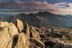 'A Massif View' - Glyder Fawr, Snowdonia (Kristofer Williams) Tags: snowdonia snowdon horseshoe massif mountain mountains landscape evening light rocks wales glyderfawr