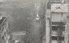 Who Can Stop the Rain...? (jcbkk1956) Tags: worldtrekker rain storm bangkok thailand thonglo nikon nikkor d3300 35mmf18dx mono blackwhite street greyscale