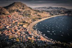 The Lake (Matt S Dawson) Tags: lake titicaca copacabana bolivia puno peru boats sunset building hdr water light architecture beach