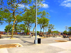 Park under Renovation. (dimaruss34) Tags: newyork brooklyn dmitriyfomenko image sky clouds spring manhattanbeach trees