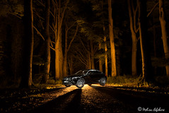 CaR LiGhTpAiNtiNg (melimage) Tags: lightpainting light painting peinture lumières lumière lumiere nikon d750 nuit night long exposure exposition longue after dark forest foret bois voiture car mercedes