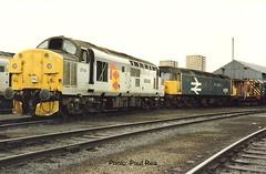 BR Class 37/0 37114 & 47/4 47578 - Eastfield T.M.D. Glasgow (dwb transport photos) Tags: britishrailways tractor duff locomotive 37114 47578 dunrobincastle eastfieldtmd glasgow