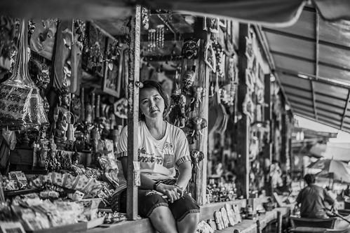 A lady in Damnoen Saduak floating market
