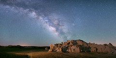 At the end of the Milky Way (OJeffrey Photography) Tags: bistibadlands nm newmexico milkyway stars starscape nightsky nightscape panorama pano lll lowlevellighting ojeffrey ojeffreyphotography jeffowens nikon d800