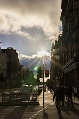 Edinburgh Street (photowarrington) Tags: edinburgh scotland city streetphotography hdr silhouette abstract sunlight lowsun