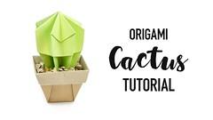 Origami Cactus Tutorial ♥︎ DIY ♥︎ Paper Kawaii (paperkawaii) Tags: origami instructions paperkawaii papercraft diy how video youtube tutorial