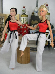 MTM Action Shot four (modcasey) Tags: made movie barbie asian show their moves background diorama
