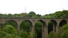 Oxpring Viaduct  (nr Penistone)  May  2017 (dave_attrill) Tags: oxspring viaduct village penistonewath huddersfieldbarnsley passenger line goods thurgoland tunnel western portal deepcar penistone station building great central railway electrified woodhead sheffield victoria manchester picadilly closed 1970 1955 stocksbridge engine transpennine upper don trail wortley wadsley neepsend dunford bridge barnsley junction huddersfield allweather cycleway bridleway footpath remains stopping electrification gantry concrete support oughtibridge oughty platform overgrown stationmasters house ticket office bullhouse green millhouse hazelhead 1983
