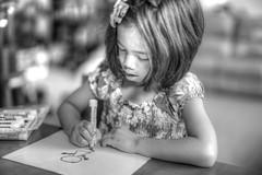 Drawing (swhodgeman) Tags: canon 5div l 50mm 5012 5012l kids girls girl 12 12l bw