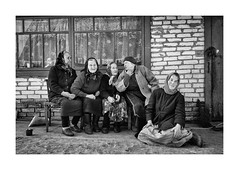 Neighbors (Jan Dobrovsky) Tags: biogon people reallife leicam10 grain rural 35mm countryside contrast leica monochrome disappearingworld middleofnowhere ukraine volyn portrait village countrylife document outdoor