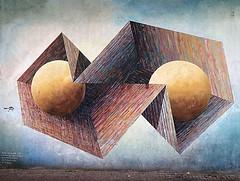 Art (De Rode Olifant - slow - due to hand-surgery) Tags: wall streetart nijmegen marjansmeijsters freekvanginkel art