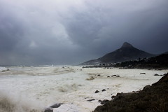 Storm swell (Michele's POV) Tags: stormyclouds stormyskies stormyseas seaswell hightide galeforcewinds whippedcream lionsheadmountain city undertheweather churn waves capepeninsula