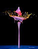 5DAR3911-Triple-collision (Carol Cohn) Tags: water waterdrops waterart liquid liquidsculpture fluid fluiddynamics splash splashart highspeedphotography canon100f28 tropfen gotas drops droplets dropletart