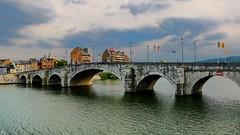 Our Bridge (YᗩSᗰIᘉᗴ HᗴᘉS +6 000 000 thx❀) Tags: europ namur belgium bridge flag drapeau river sky clouds hensyasmine