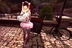 Neka Snack (littlerowan) Tags: sissy crossdress gyaru casual tights anklesocks catboy neko twintails hoodie handbag pink