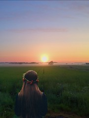 Endless beauty (erlingraahede) Tags: morning iphone vsco dew girl holstebro denmark sunrise