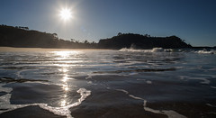 Just me and the sea (OzzRod) Tags: pentax k1 smcpentaxa20mmf28 coast sea waves beach sun sunburst intothesun silhouette seascape barraggabay dailyinjune2017