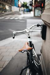 Brooks (borishots) Tags: brooks bike bikehandlebars bikes oldbike bicycle leather seat ride bokeh bokehlicious bokehwhore canon6d canonef35mmf2 35mm f2 wideopen wideangle grain analog retro vintage oslo norway scandinavia oslosentrum streets urban urbanexploration urbanlandscape urbanphotography