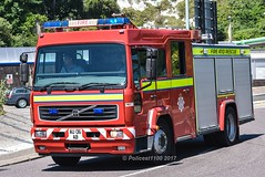 Defence Fire Service Volvo FL6 AU06AB (policest1100) Tags: defence fire service volvo fl6 au06ab manston