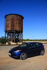 Westley Watertower (ScholzRUNNER) Tags: southernpacific southernpacificrailroad fordfiesta fiestast sp espee watertower