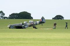 NH341 Sywell 16-06-17 (IanL2) Tags: supermarine spitfire nh341 sywell aerodrome warbird crash