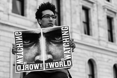 The World is Watching, rally at the State Capitol in St Paul, MN after the not guilty verdict in the Yanez trial (Lorie Shaull) Tags: justice4philando philandocastile stpaul minnesota protest protestsign protester minnesotastatecapitol theworldiswatching