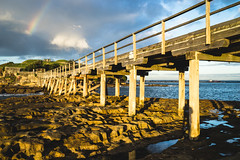 Bridges (haoguoju) Tags: sydney nsw newsouthwales landscape seascape australia laperouse distagon cloud sky outdoor sea ocean sunrise blue a7m2 a7 sony sonya7markii sonyilce7m2 fe35mmf14za fe 35mm f14 za zeiss carlzeiss winter morning distagon3514za shore coast seaside rock stone angler mist starburst bay botanybay botany water bridge bareisland bareislandfort rainbow