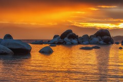 (Marc Crumpler (Ilikethenight)) Tags: landscape usa nevada laketahoe sandharbor sunset clouds lake water reflection rocks boulders mountains sierranevadamountains marccrumpler canon canon6d 6d 24105mmf4l