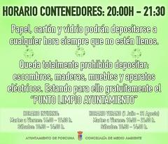 WhatsApp Image 2017-06-14 at 12.59.15 (M. Jalón) Tags: horario contenedores basura porcuna ayuntamiento concejalía medioambiente