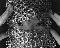Fencing Heather (christa.bryant10) Tags: film darkroomphotography darkroom focalpoint eyes mask fashion weaving poptabs irvingpenn portrait face soda