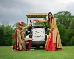 Indian Wedding (6.2 Million Views www.DelensMode.com) Tags: indian golf course delensmode photography wedding brooklyn new york city dyker beach cart green summer clouds bride groom