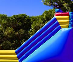 Kid's slide (chrisk8800) Tags: barcelona chrisk8800 inflatable slide kids colors colours lines geometric patterns texture composition