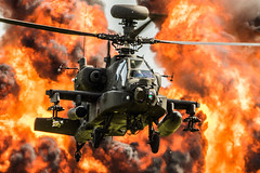 apache wall of fire (Nick Collins Photography, Thanks for 2.5 million v) Tags: apache westland helicopter aviation flying military wattisham uk army flames fire wall gunship canon 7dmk2 500mm duxford imperialwarmuseum