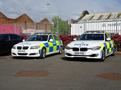 West Midlands Police BMW 330d Driver Training Unit (LD26) BX12 KHZ and BMW 330d Traffic Car (OPS19) BX14 FOD, Birmingham. (Vinnyman1) Tags: west midlands police bmw 330d ld26 bx12 khz learning developement driver training unit policing road crime traffic car ops19 bx14 fod operations wednesbury rpu roads anpr automatic number plate recognition cctv closed circuit television enabled wmp birmingham city centre england uk united kingdom gb great britain emergency services rescue 999 the championship second derby avfc aston villa football club villains park bcfc blues zulu warriors youth hardcore steamers ccrew